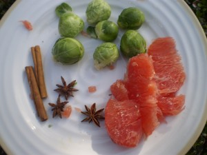 Brussel Sprouts and Pomelo Salad